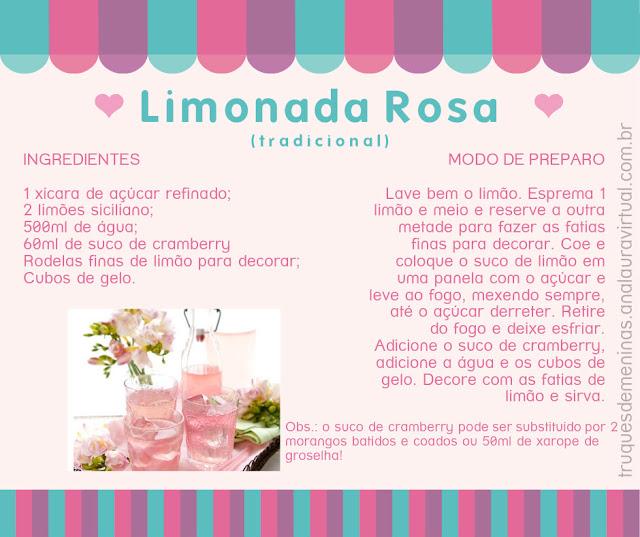 limonada rosa tradicional