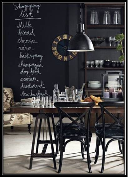 Black Kitchen Dining Room