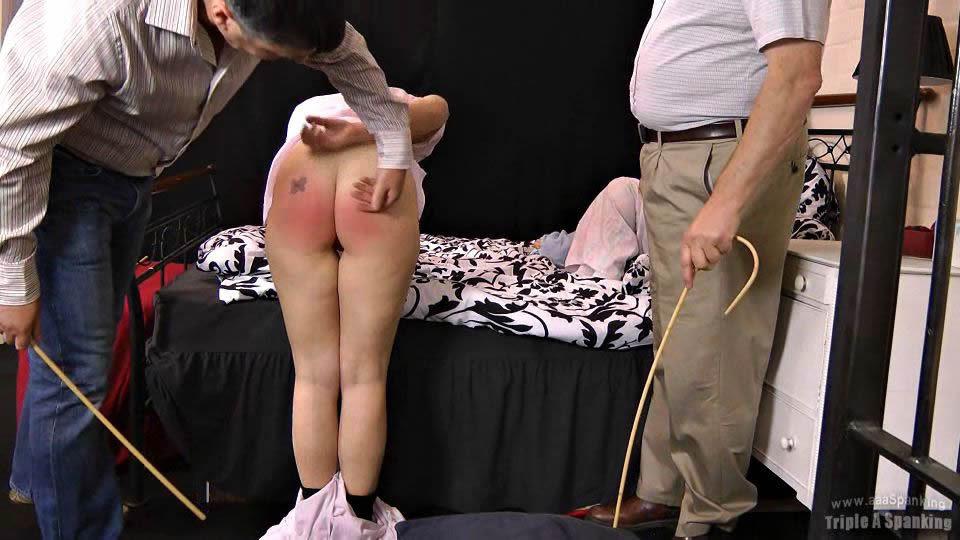 Pyjamas down spank and Bjorn