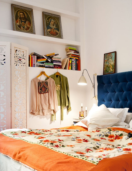fabulously cluttered boho bedrooms