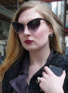 Provocative Cat Eye Sunglasses from Agent Provocateur.