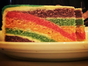 Watch Me Make My Rainbow Puzzle Cake