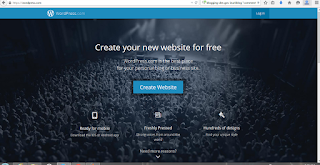 Loging to WordPress.com and register
