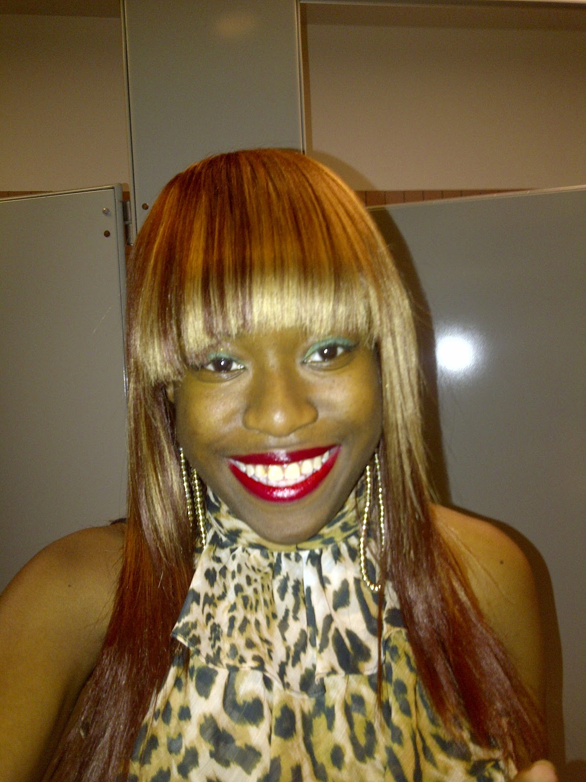 Shaybeautie Quick Weave Wig With Bangs