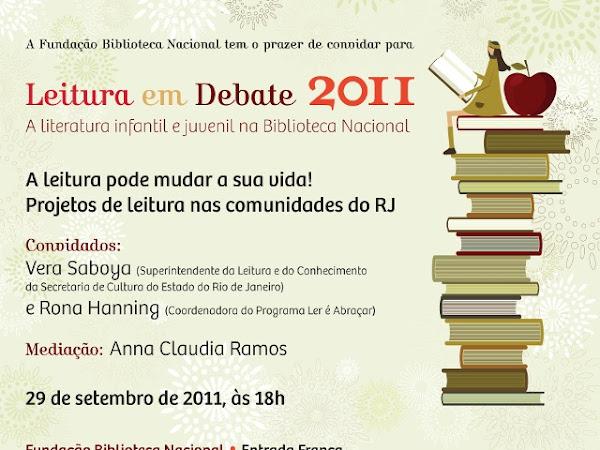 Leitura em Debate na Fundação Biblioteca Nacional no dia 29