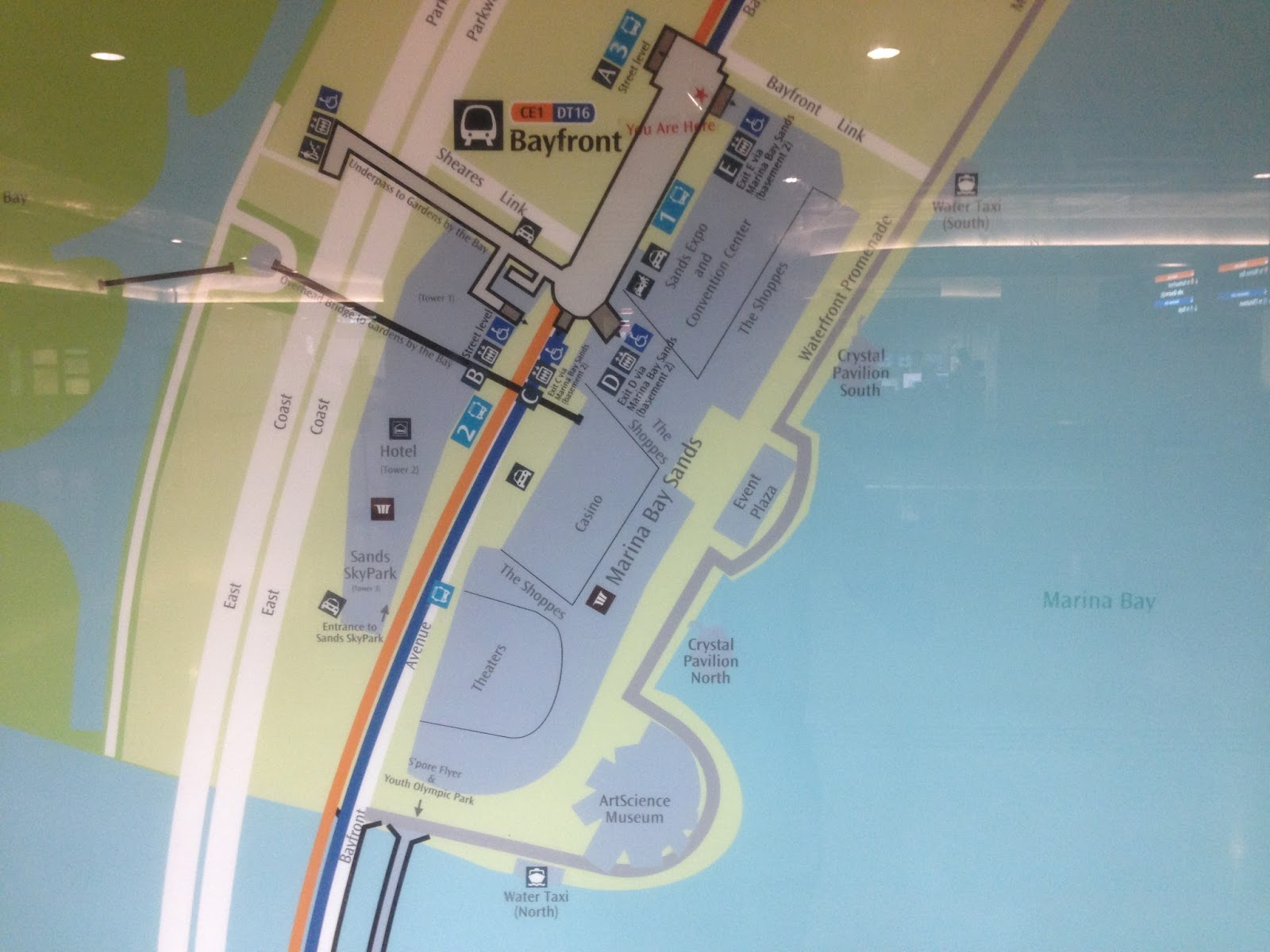 this is the layout of the bayfront mrt station