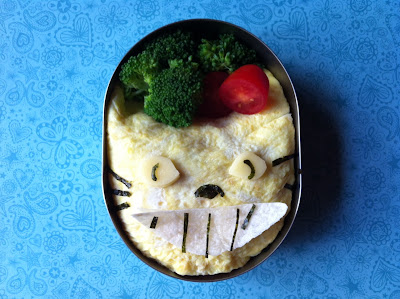 Neko bus, cat bus, Totoro, Omlette rice bento