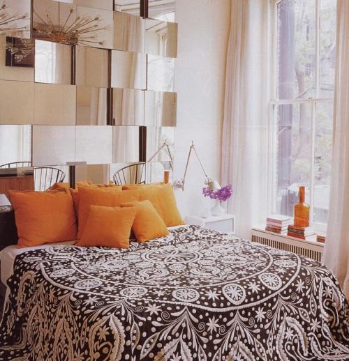 cabecera cama espejo