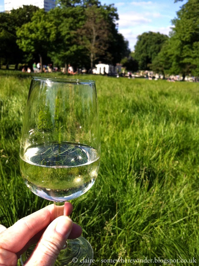 a cheeky glass of summer wine - Hyde Park