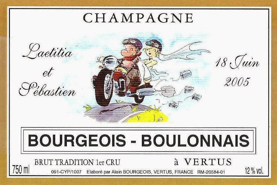etiquette champagne personnalise mariage motards moto - Tiquette Personnalise Champagne Mariage