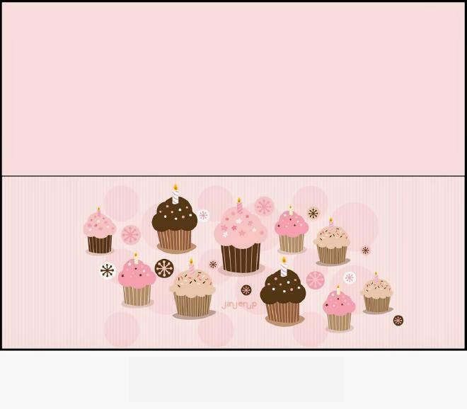 Cupcakes Theme: Free Printable Candy Bag Label.