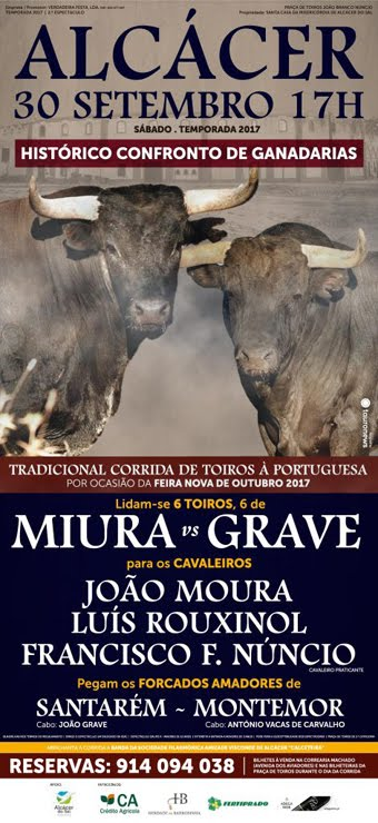 ALCÁCER (PORTUGAL) 30-09-2017. CORRIDA A PORTUGUESA.
