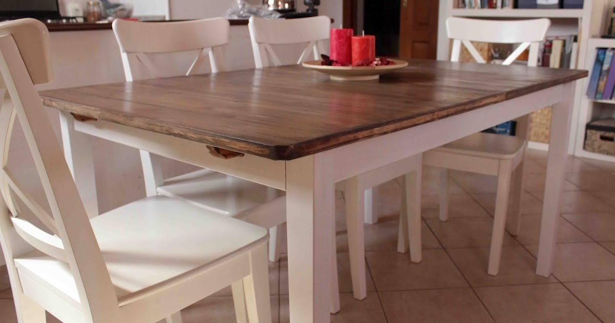 Home hack a country kitchen style dining table - Table ronde blanche ikea ...