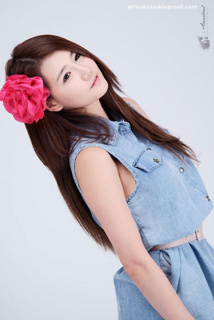 8 Han-Ga-Eun-Denim-Shirt-01-very cute asian girl-girlcute4u.blogspot.com