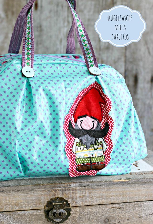 Sew Along Kugeltasche mit Carlitos Stickdatei erhältlich bei Huups
