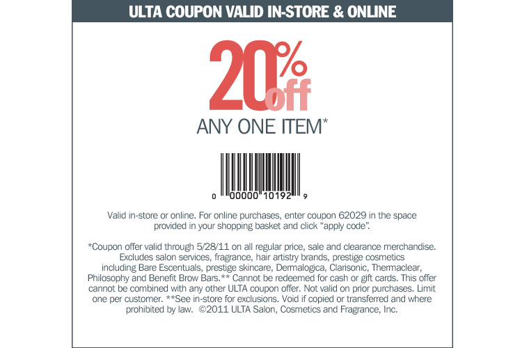 Ulta discount coupon printable