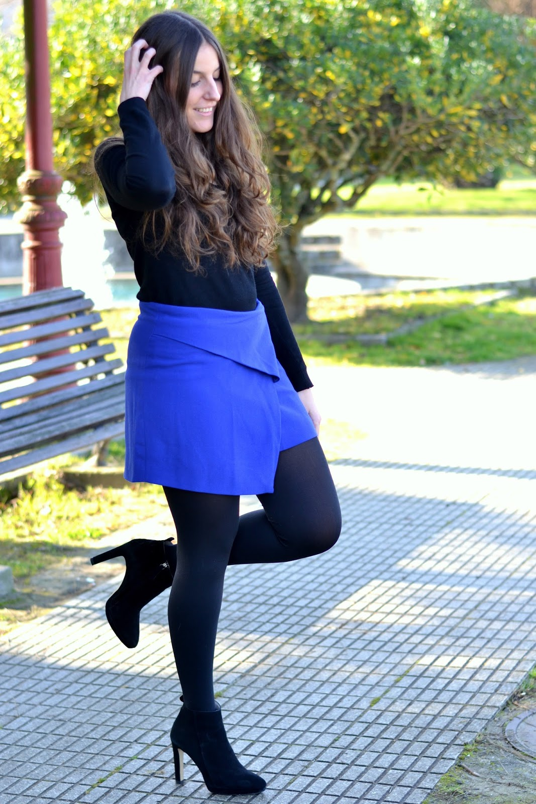 pimkie blue klein skirt, black