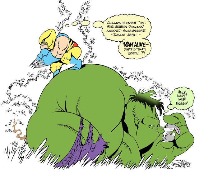 WOLVERINE AND HULK FIRST MEET por Fourpanelhero