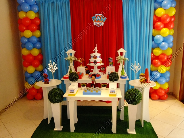 decoracao festa infantil patrulha canina : decoracao festa infantil patrulha canina:decoracao-festa-infantil-patrulha-canina-01.JPG