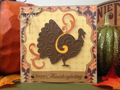 Cricut, Celebrate With Flourish, Turkey, Thanksgiving Card