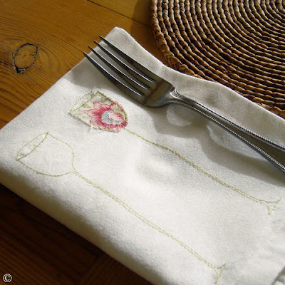 wine glass napkins