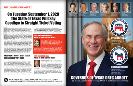 "PAGES 22 AND 23 - HOUSTON BUSINESS CONNECTIONS MAGAZINE© ""STRATEGIC VOTER"" MOBILIZATION CAMPAIGN"