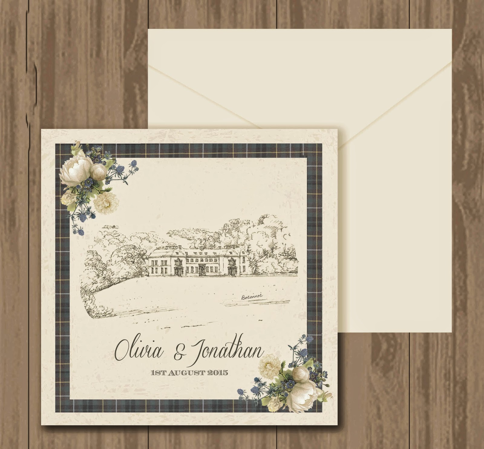 Knots And Kisses Wedding Stationery: Bespoke Cornish Sketch Wedding ...