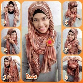 Cara Memakai Jilbab Pashmina Model Terbaru l Tutorial Hijab Pashmina Model Terbaru