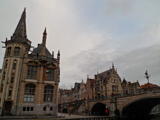 View by the canal in Ghent, Belgium