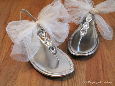 cute way to dress up a pair of sandals to change into at your wedding reception