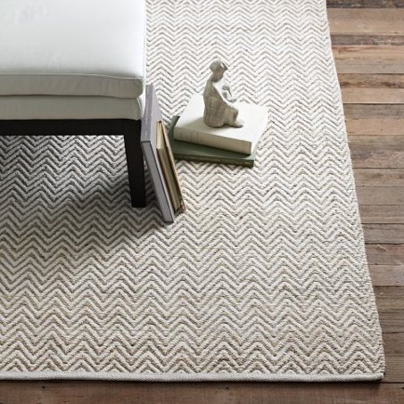 CHUNKY WOOL And NATURAL JUTE RUG Via Pottery Barn