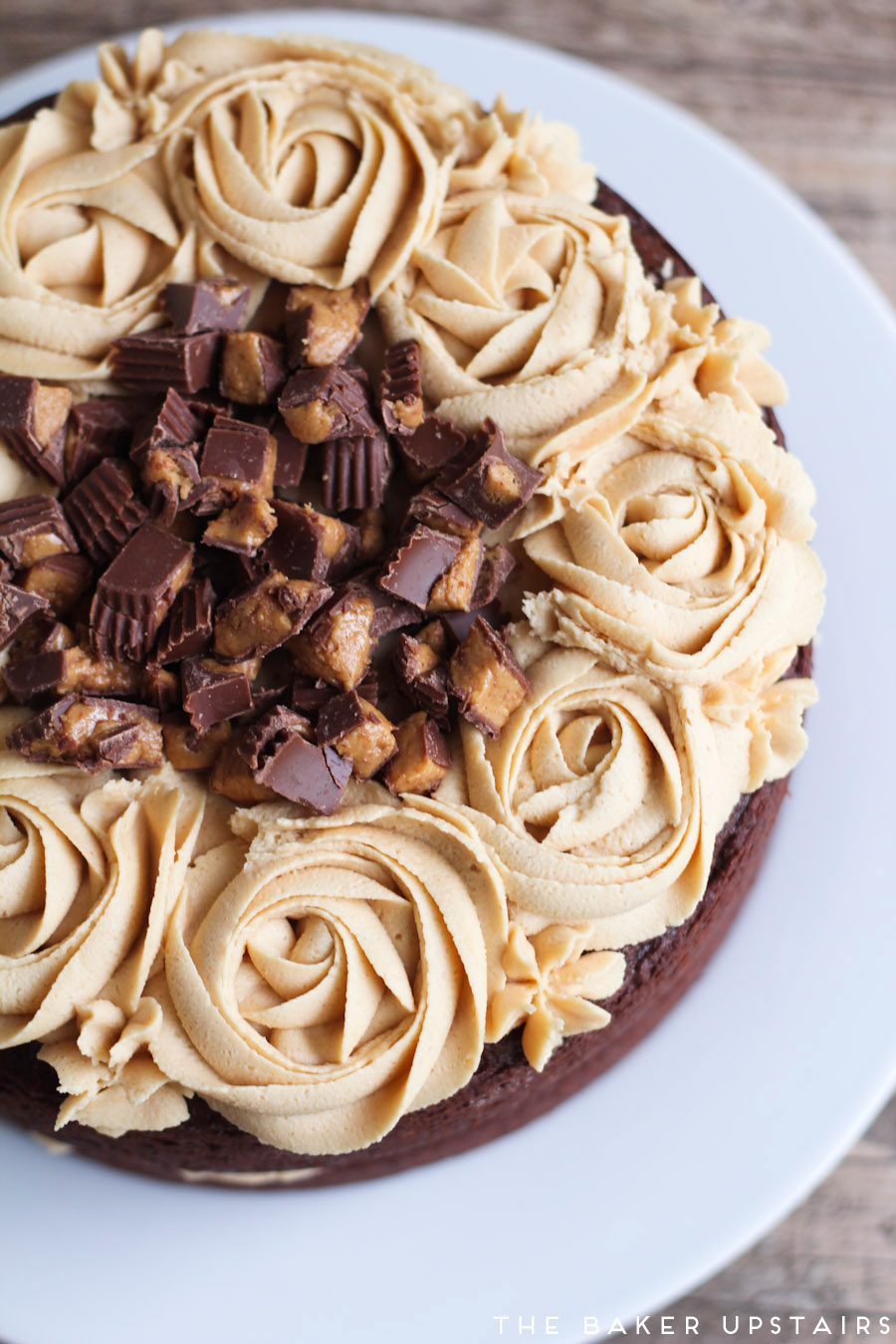 the baker upstairs: the best chocolate peanut butter cake