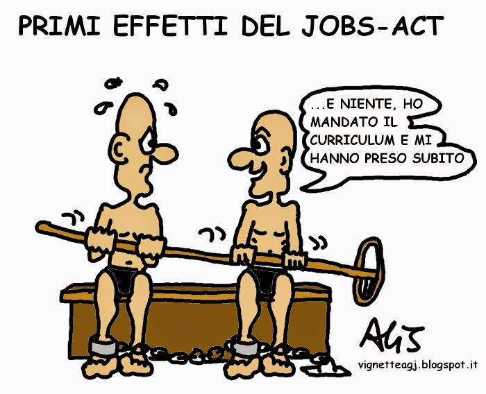 jobsact, lavoro giovanile, lavoro, satira , vignetta