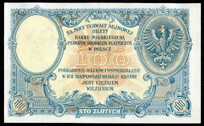 POLAND currency 100 ZLOTYCH, 1919 issue