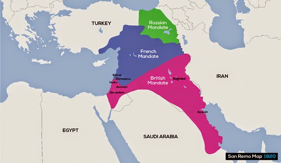 World History Teachers Blog The Middle East A Legacy of WWI