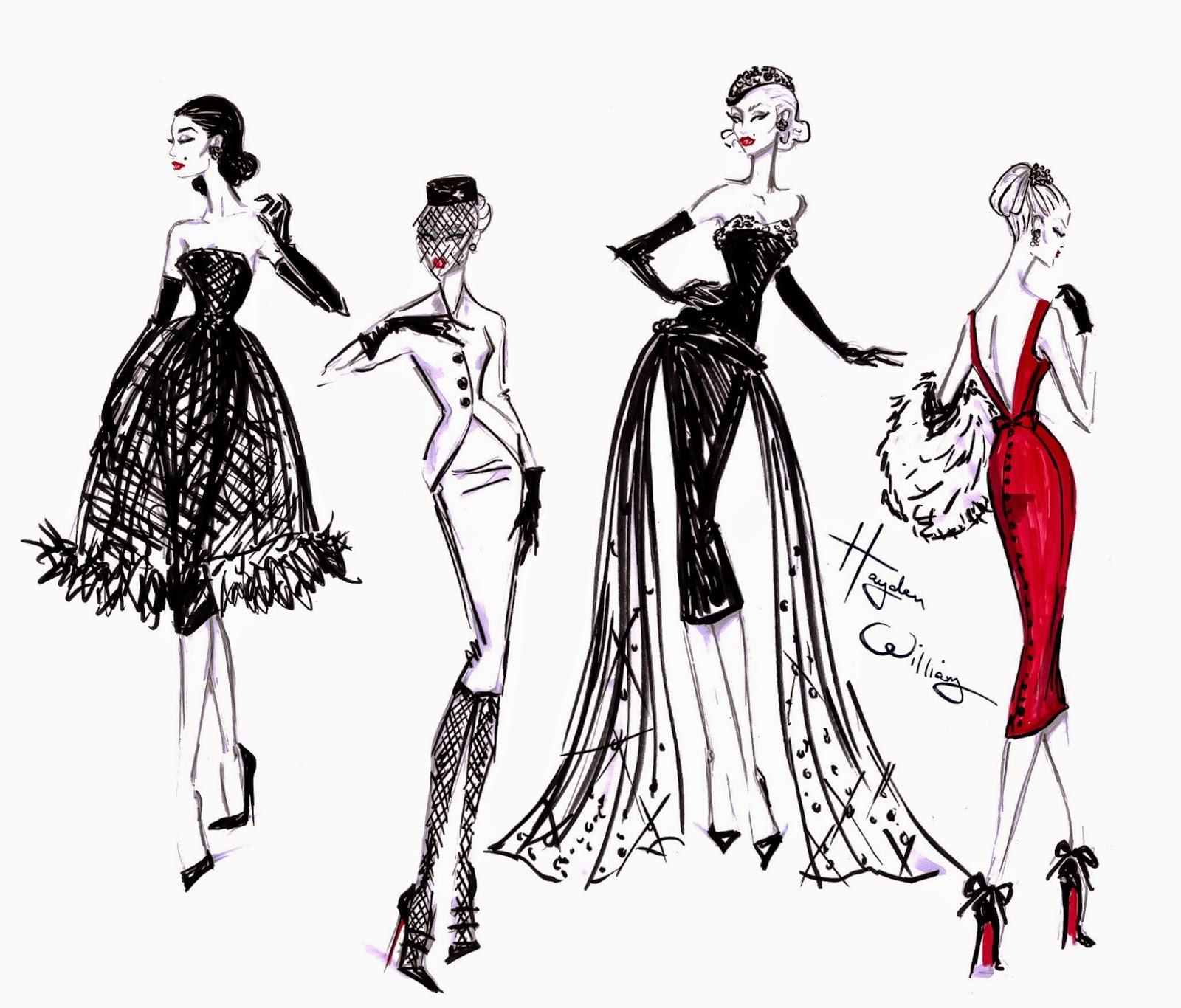 Платья как сделать рисунки