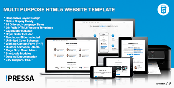 Multipurpose HTML5 Website Template