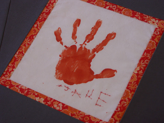 Hand Print on Quilt