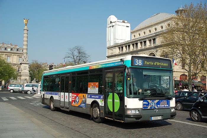 Транспорт Парижа: автобусы по Парижу