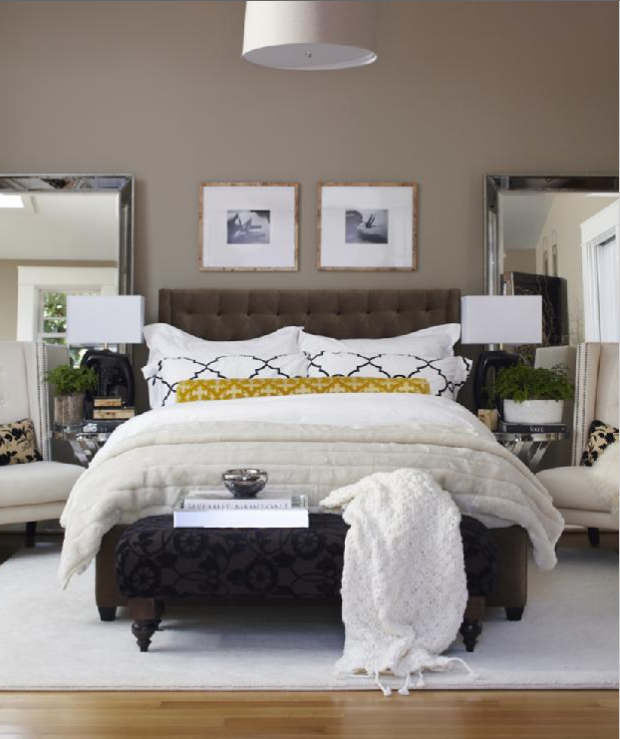 An Area Rug Adds a Warm Touch to This Master Bedroom Decor Pad  Making Your. Bedroom Area Rug