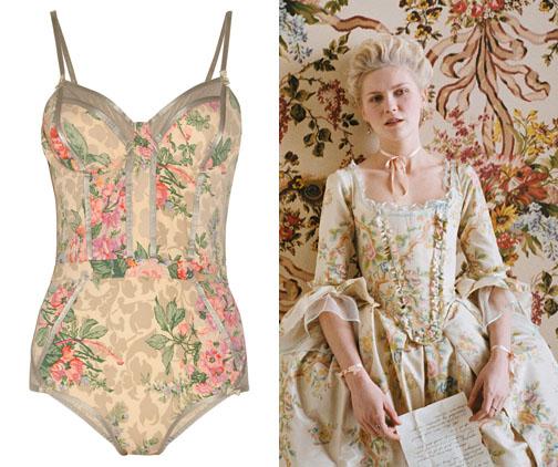 Zimmerman, floral suit, Marie Antoinette