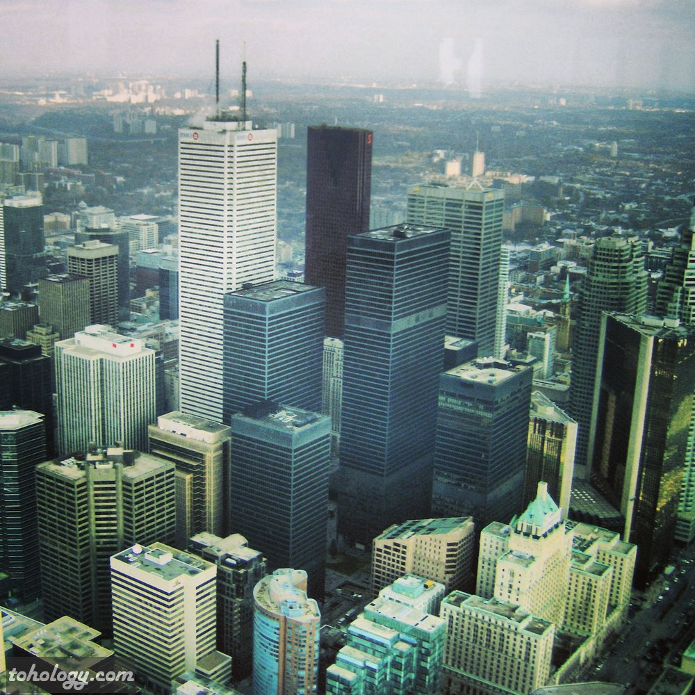 CN Tower (La Tour CN) View to downtown from the Outdoor Level