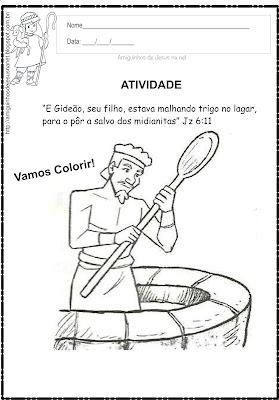 Atividade para Colorir - Gideão