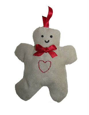 christmas, sewn, handmade, decorations, hearts,gingham, machine,fabric, gingerbread men