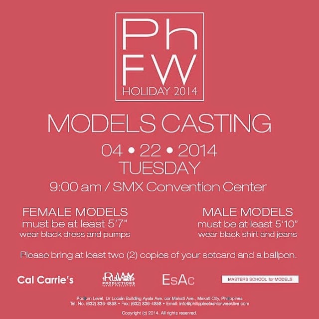 philippine fashion week holiday 2014 models casting april 22 2014 9