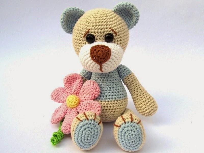 Вязание медвежонка амигуруми