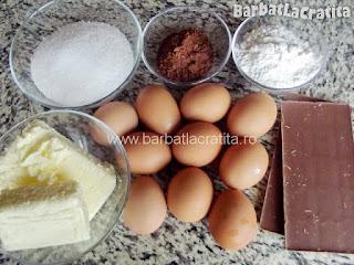 Tort Dobos (reteta de foi si crema) Lista cu ingredientele necesare