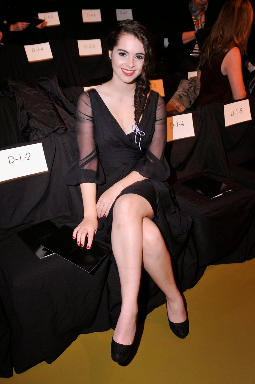 Vanessa Marano Looks Elegant in Black Dress at J.Mendel Fashion Show