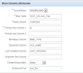 Blob Column Attributes