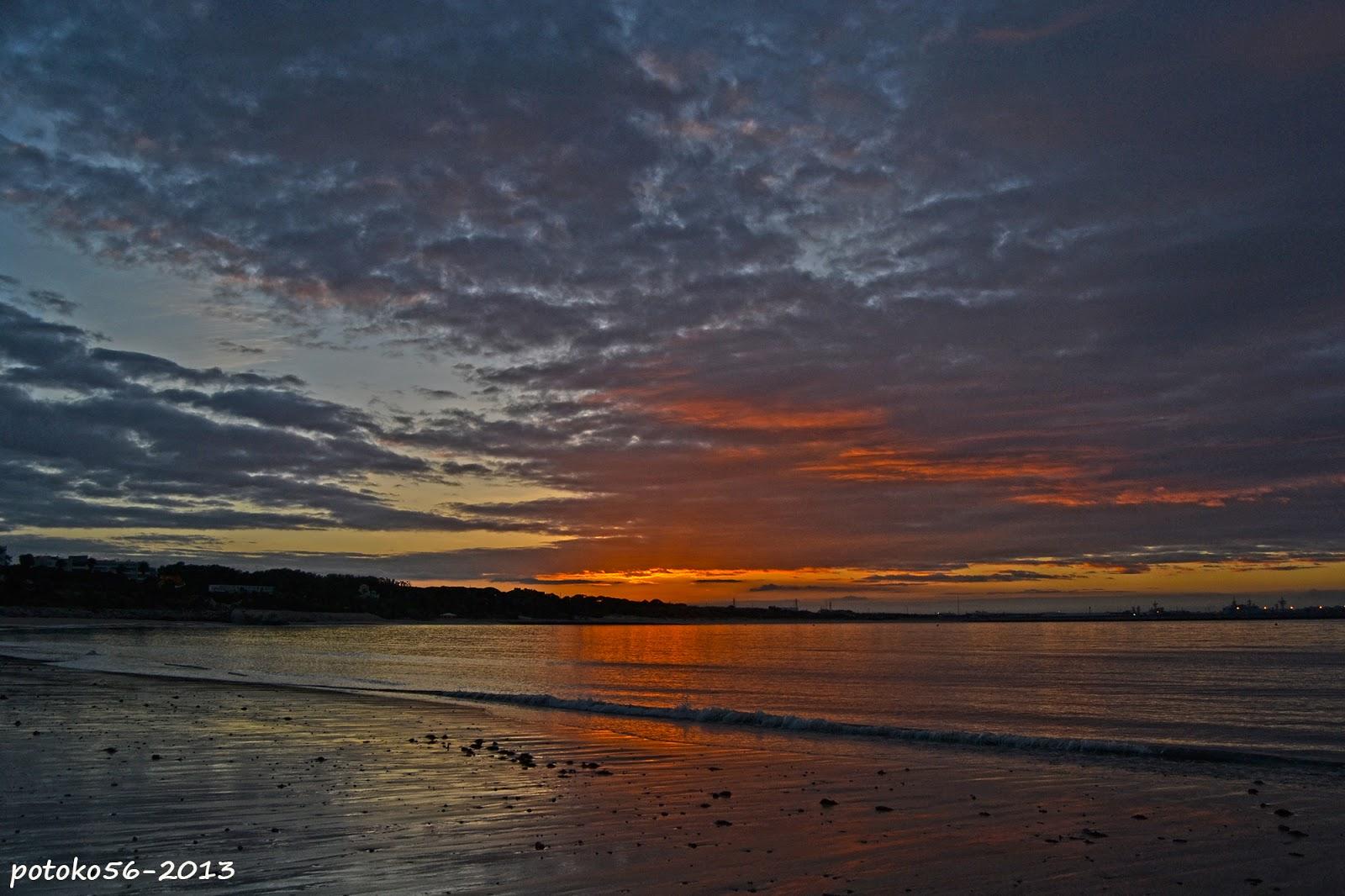 Amanecer en Rota Playa del Chorrillo